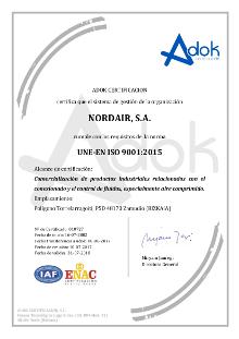 Nordair certificado ISO